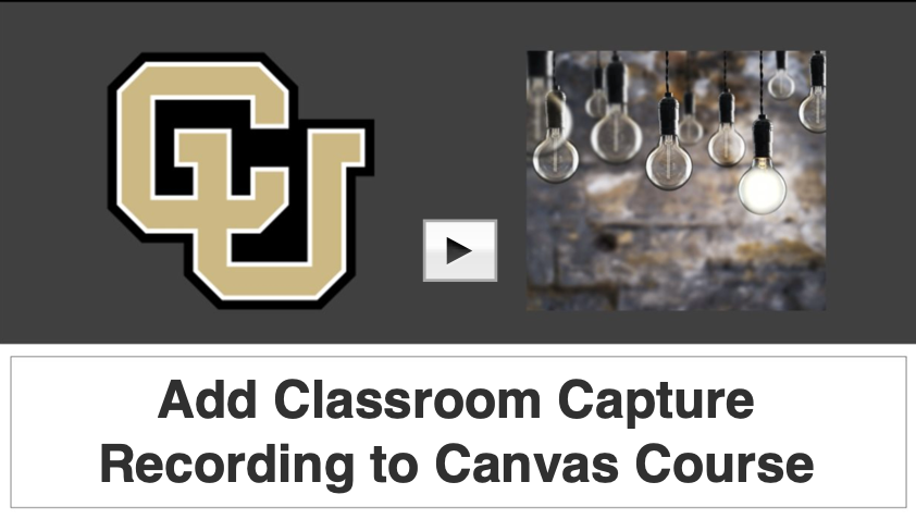 Add classroom capture to canvas video