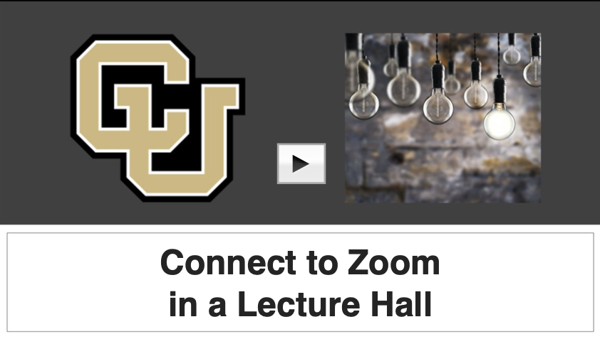 how to connect to zoom while in lecture hall video