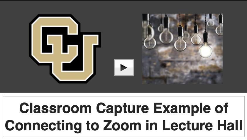 example video of connecting to Zoom in lecture hall