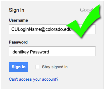 Google Apps correct login format visual