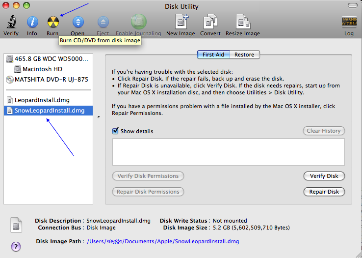 Apple Software - Burning an installer onto a dual-layer (DL
