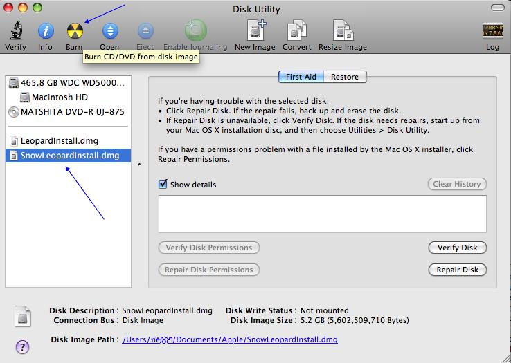 burn dvd mac os 10.5.8