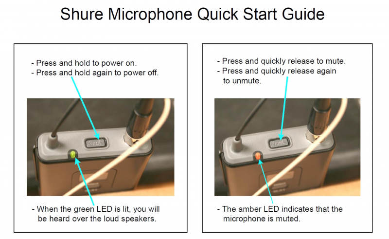 Shure Microphone Quick Start Guide Image