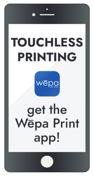 download the wepa app for touchless printing