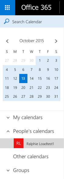 Outlook Web App - Open a Shared or Resource Calendar
