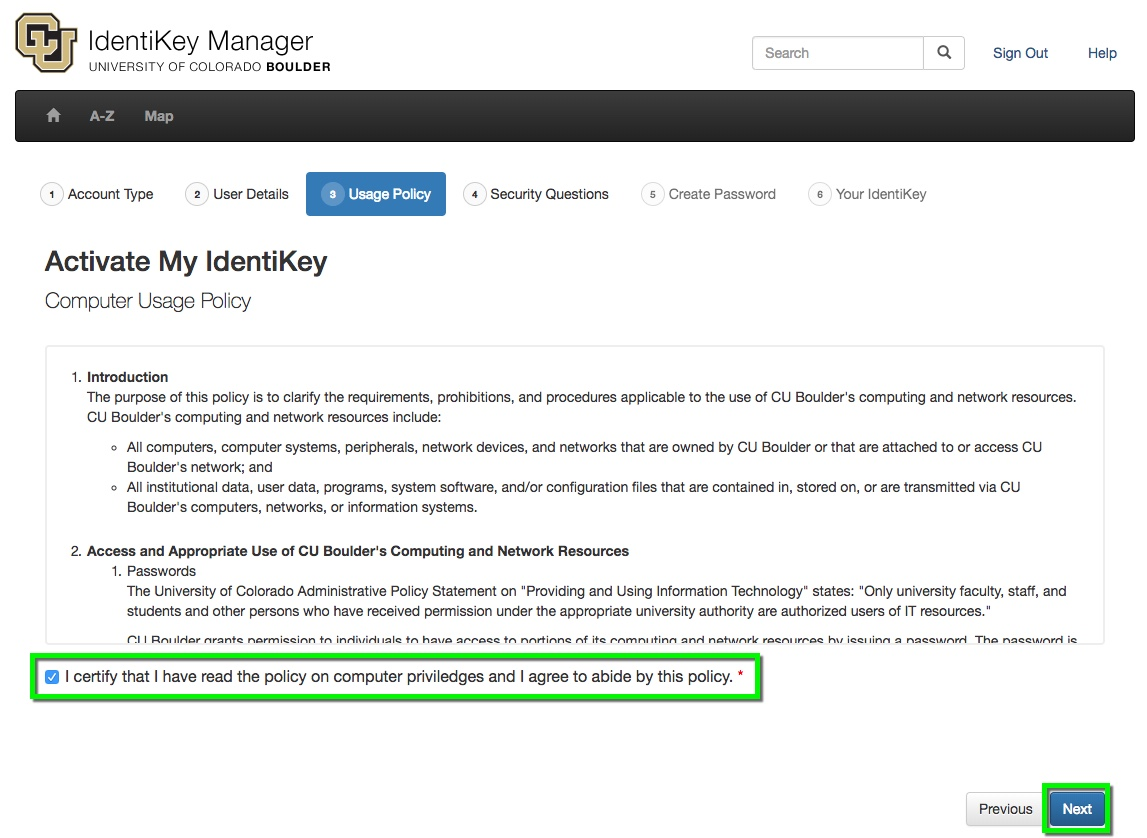 IdentiKey Manager - Activate Your Account | Office of Information