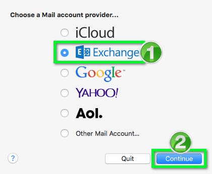 Office 365 - Apple Mail Configure (Mac OS X 10 11 - 10 13