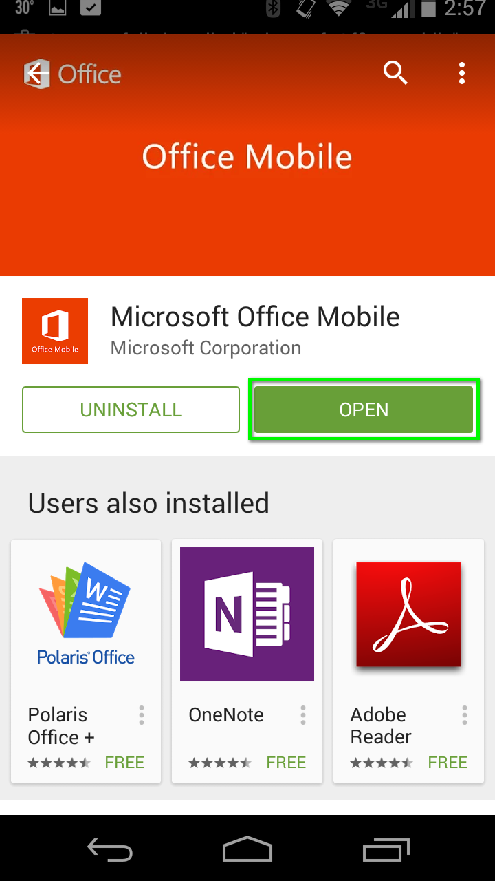 Office 365 - Install Office 365 apps for Android | Office of