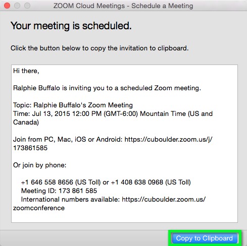 zoom host a meeting and invite participants office of