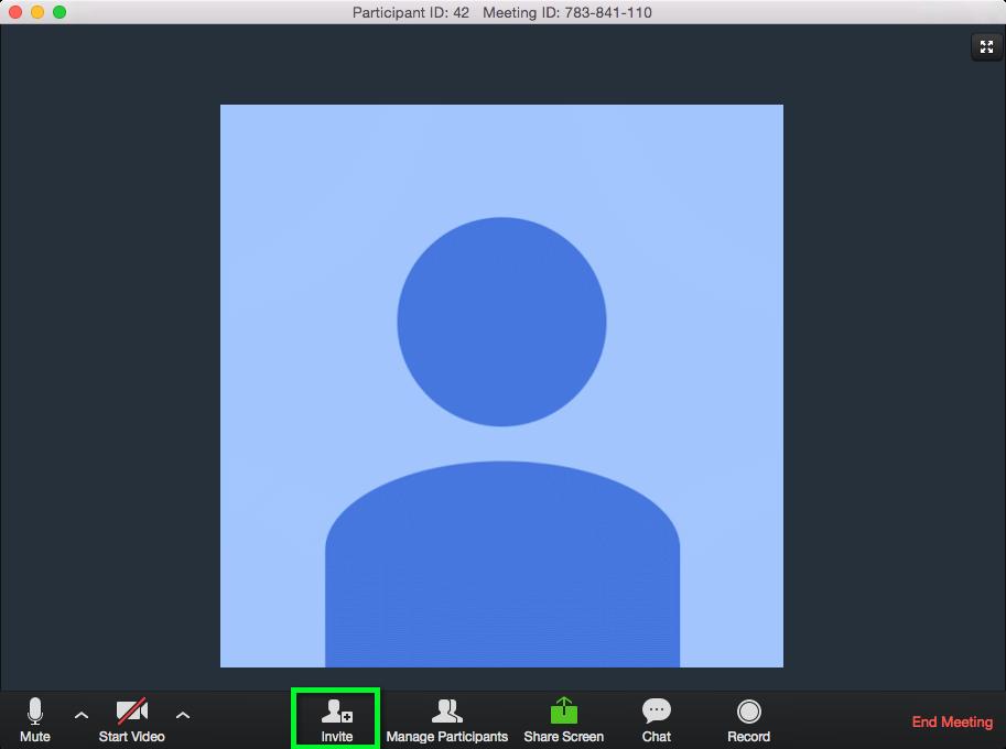 Screenshot of Zoom Meeting Room