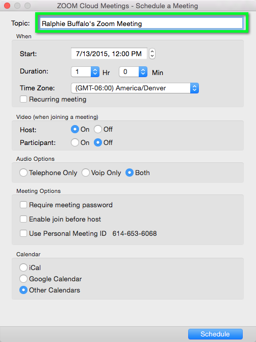 Zoom - Host a Meeting and Invite Participants   Office of