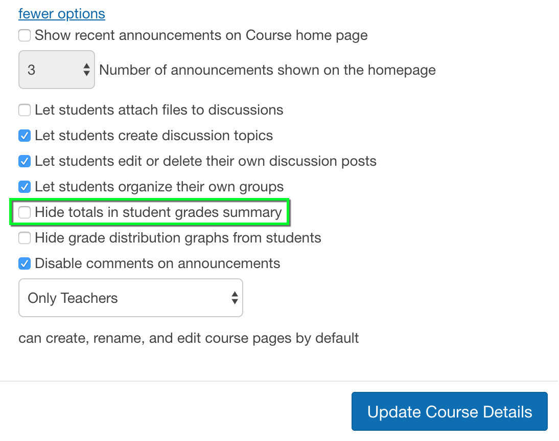 Canvas - Hide and Unhide Final Grades | Office of