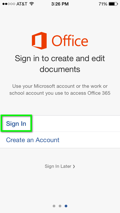 Office 365 - Install and Setup Office 365 apps for iOS