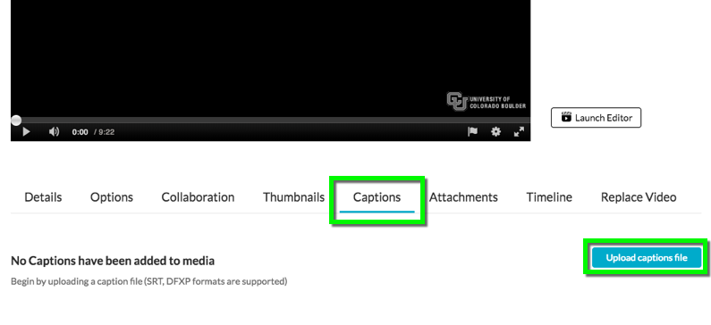 Kaltura - Adding Closed Captions to Videos in Canvas