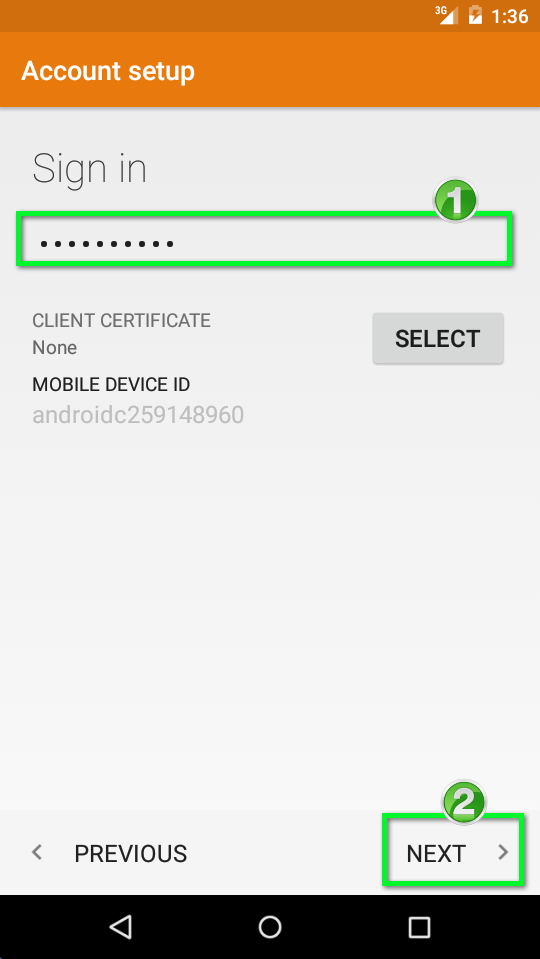 Office 365 - Android 5 x Exchange Configure | Office of Information