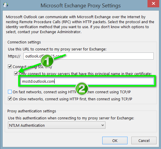 Office 365 - Outlook for Windows Manual Exchange Configuration