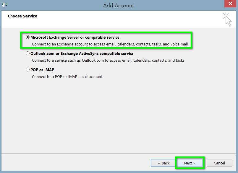 Office 365 outlook 2010 2013 exchange configuration - Office 365 server settings for outlook 2010 ...