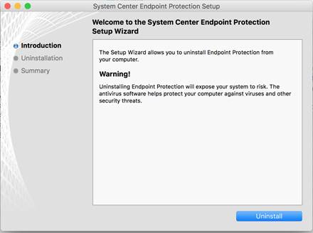 Uninstall System Center Endpoint Protection for Mac | Office of
