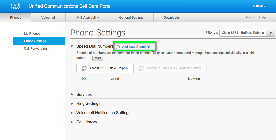 Cisco VoIP - Accessing Self Care Portal and Managing Speed