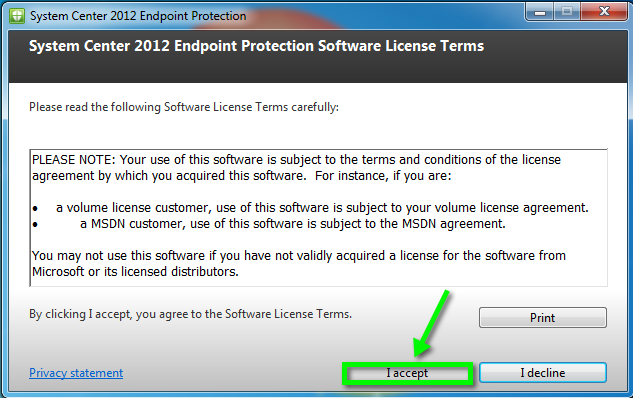 Install System Center 2012 Endpoint Protection for Windows | Office