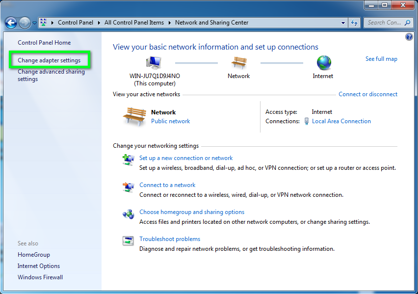 Static Ip Configuration Windows 7 Office Of Information Technology