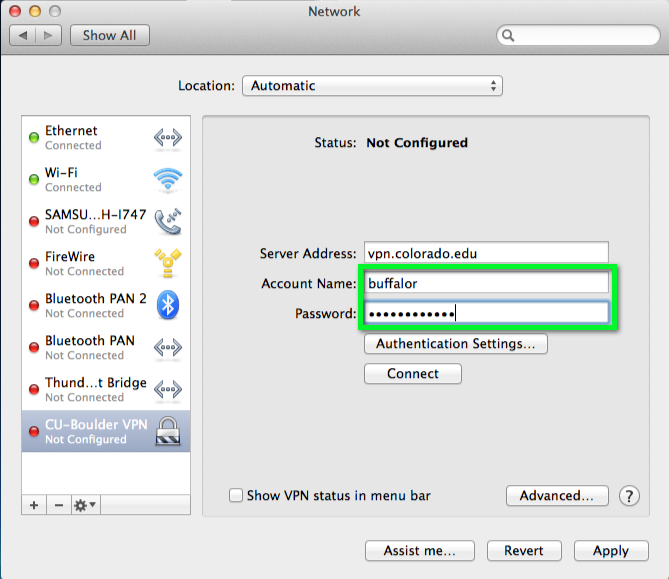 VPN - Connect with Cisco IPSec for Mac | Office of Information