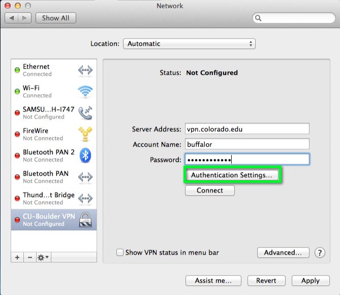 VPN - Connect with Cisco IPSec for Mac | Office of