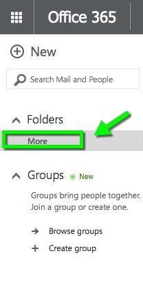 Outlook Web App - View Folders | Office of Information Technology