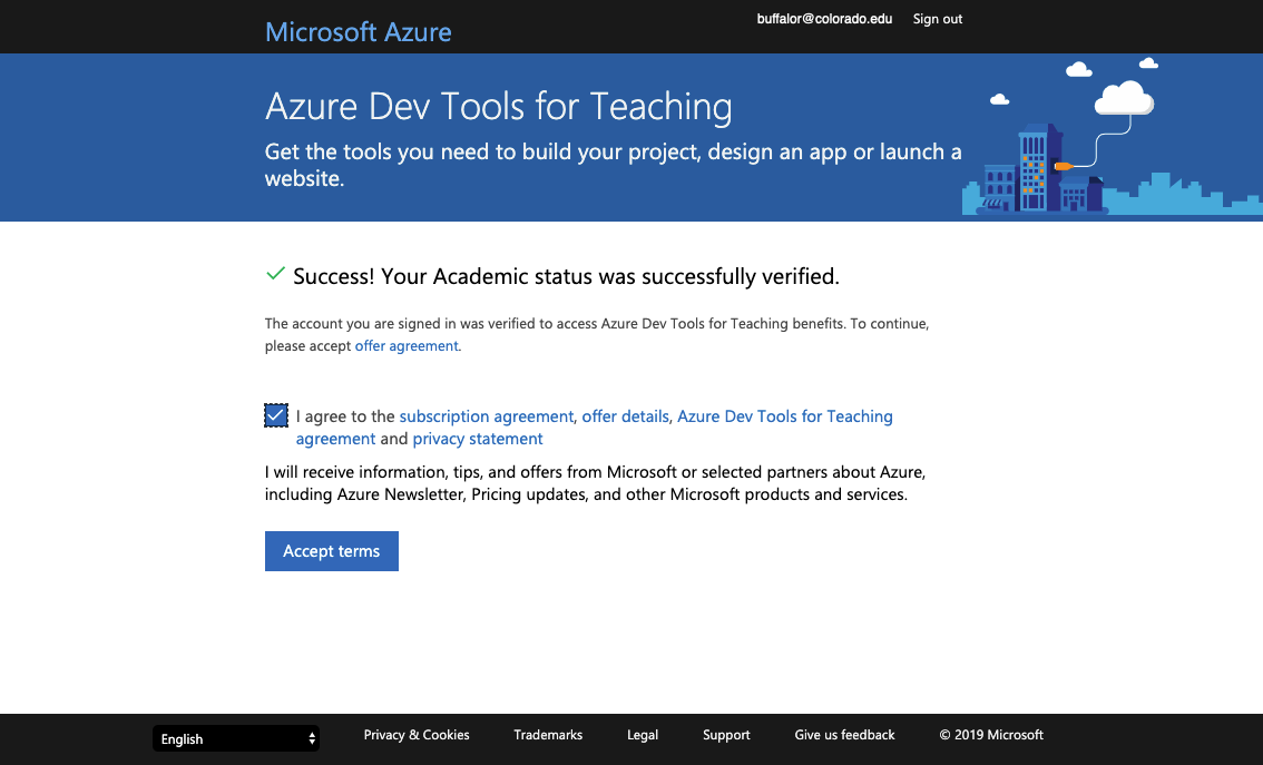 Microsoft EES Agreement - Download Windows 10 from Azure Dev Tools